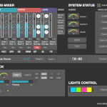 Screenshot – Max/MSP Bus Mixer